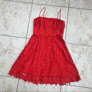 Crocheted overlay dress (size M)